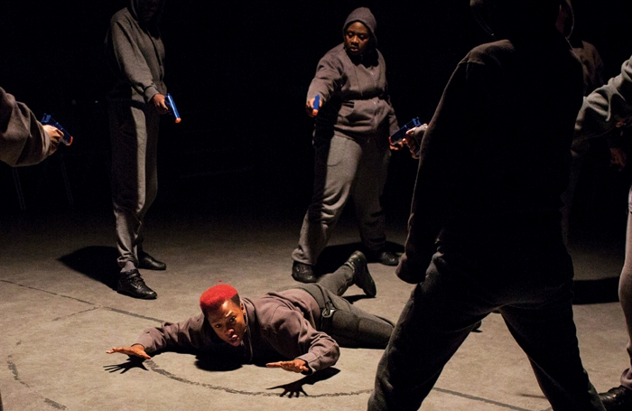 Anouka and cast in Julius Caesar at the Donmar Warehouse