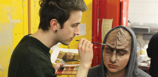 Mountview students on the FdA Scenic Art and Prop Making course