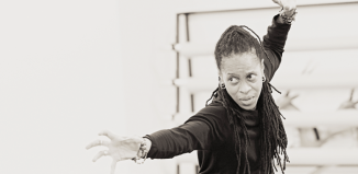 Thea Barnes in Lion King rehearsals