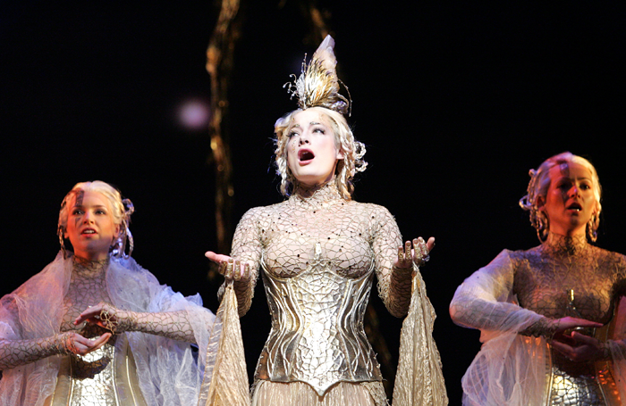 Laura Michelle Kelly as Galadriel in Lord of the Rings at Drury Lane Theatre in 2007. Photo: Tristram Kenton