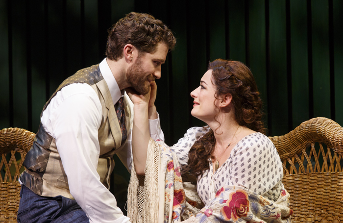 Matthew Morrison and Laura Michelle Kelly in Finding Neverland. Photo: Carol Rosegg