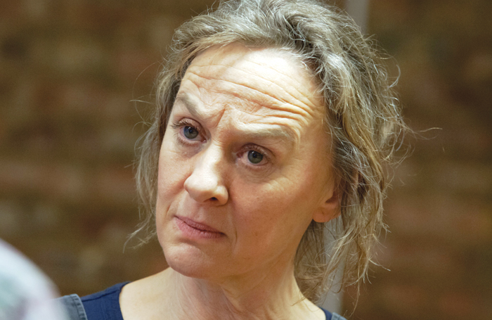 Niamh Cusack in rehearsals for The Remains of the Day. Photo: Iona Firouzabadi