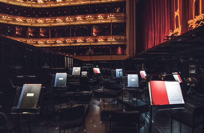 One of the best ways to reduce musicians' exposure to dangerous noise levels is to create more space between them, but this is not possible in many cramped orchestra pits. Photo: Royal Opera House