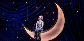 Sarah Tynan in The Merry Widow at the London Coliseum. Photo Clive Barda