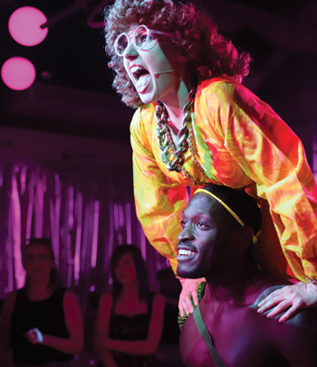 Bronté Barbé and Nyron Levy in The Donkey Show in 1999. Photo: Jane Hobson