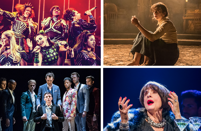 Six, Summer and Smoke, The Inheritance and Company all Olivier nominees. Photos: Idil Sukan/Marc Brenner/Tristram Kenton