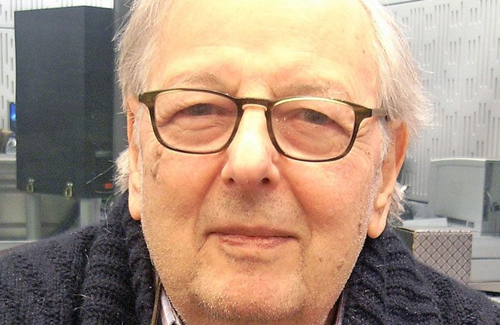 André Previn at the BBC in 2012. Photo: Steve Bowbrick/Wikimedia