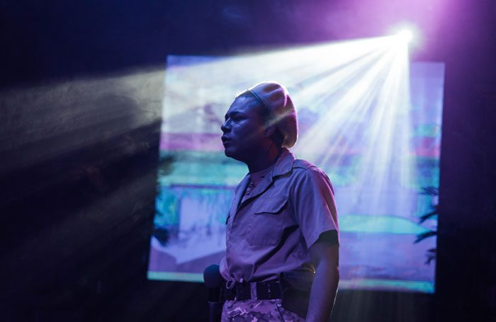 Travis Alabanza in The Ridiculous Darkness at Gate Theatre, London. Photo: Helen Murray