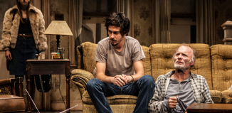 Taissa Farmiga, Nat Wolff, Ed Harris in Buried Child. Photo: Monique Carboni
