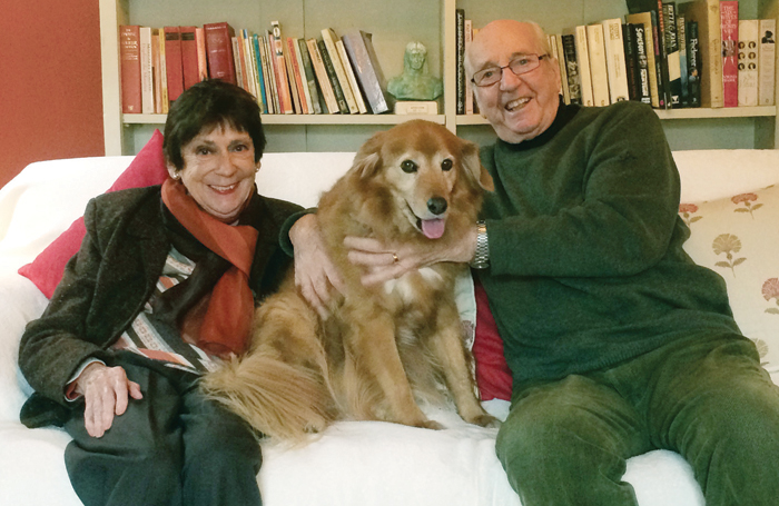 Annette Page with husband Ronald Hynd at home