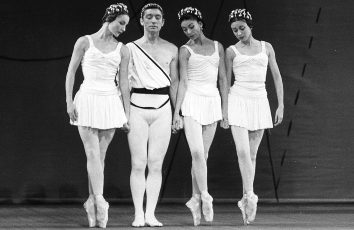 Anya Linden, David Blair, Margot Fonteyn and Annette Page in The Royal Ballet revival of Symphonic Variations. Photo: Roger Wood/Royal Opera House