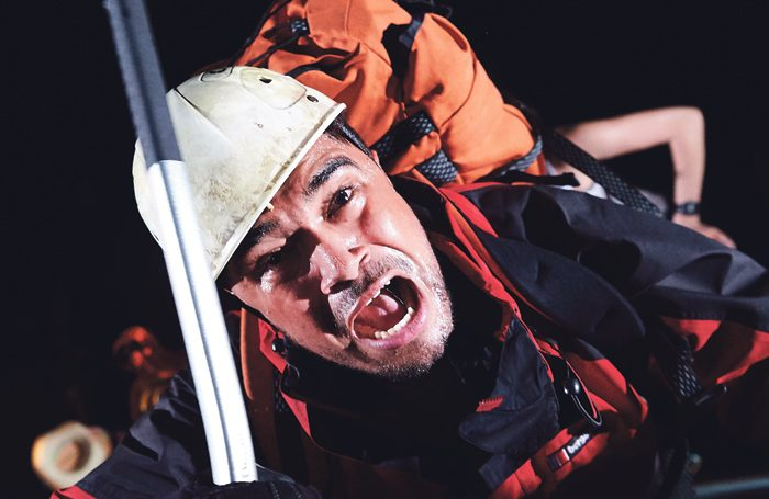 Josh Williams in Touching the Void at Bristol Old Vi. Photo: Geraint Lewis