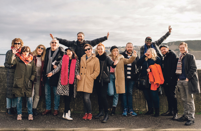 The cast of Local Hero on the seafront at Banf. Photo: Mihaela Bodlovic