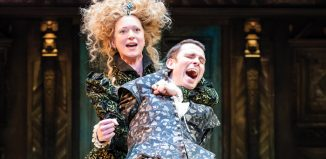 Claire Price and Joseph Arkley in The Taming of the Shrew. Photo: Ikin Yum