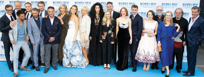 Cast and creatives of Mamma Mia! Here We Go Again 2. Photo: James Gillham