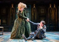 Claire Price and Joseph Arkley in The Taming of the Shrew at the Royal Shakespeare Theatre. Photo: Ikin Yum