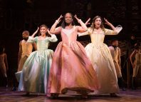 Rachel John (centre) with Rachelle Ann Go (left) and Christine Allado (right) in Hamilton. Photo: Matthew Murphy