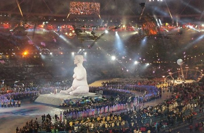 The Alison Lapper statue that featured at the 2012 Paralympic Opening Ceremony. Photo: Annie