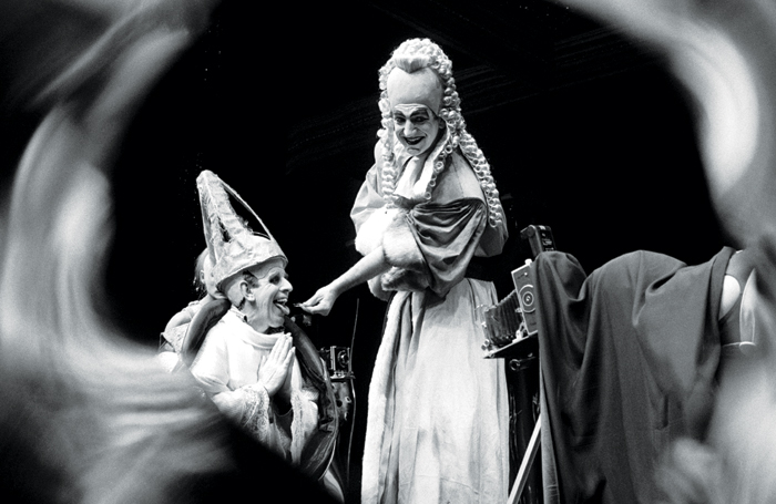 The Balcony, directed by Terry Hands, at the Barbican Centre (1987). Photo: Ivan Kyncl/courtesy of V&A