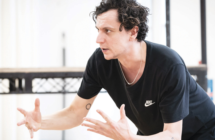 Tom Mothersdale in rehearsal for Richard III. Photo: Marc Brenner