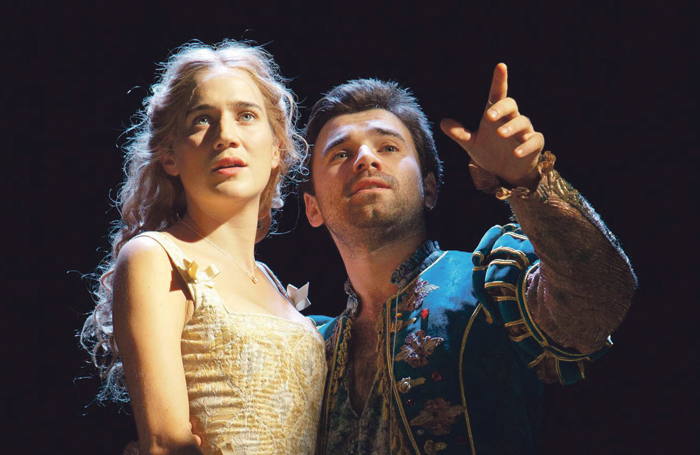 Imogen Daines and Pierro Niel-Mee in the tour of Shakespeare in Love. Photo: Pete Le May