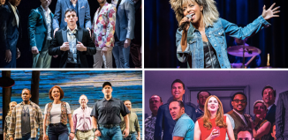 Clockwise from top left: The Inheritance, Tina – The Tina Turner Musical, Company and Come from Away. Photos: Marc Brenner/Tristram Kenton/Manuel Harlan