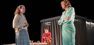 Roisin Rae, Liv Hill and Katherine Kingsley in Top Girls. Photo: Johan Persson