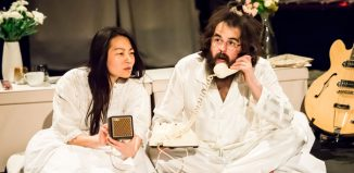 Jung Sun den Hollander and Craig Edgley in Bed Peace: The Battle of Yohn and Joko at Cockpit Theatre, London