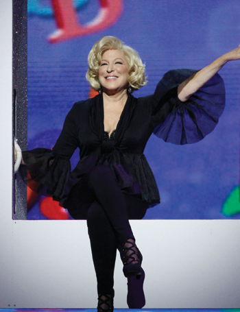 Bette Midler in the Royal Variety at the London Palladium. Photo: Matt Frost/ITV