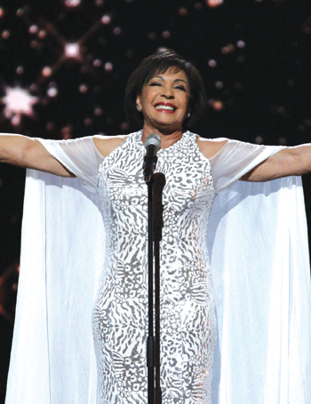 Shirley Bassey in the Royal Variety at the London Palladium. Photo: Matt Frost/ITV
