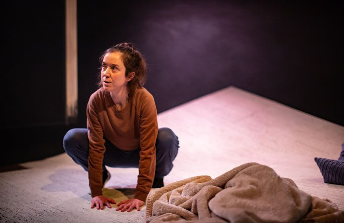 Amy McAllister in The Noises at the Old Red Lion Theatre, London. Photo: Ali Wright