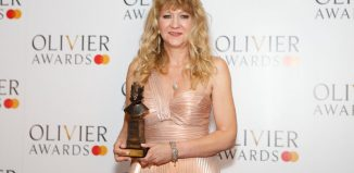 Sonia Friedman with the award for best revival for Summer and Smoke at this year's Oliviers. Photo: Pamela Raith
