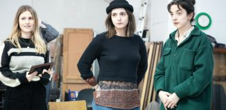 Ria Zmitrowicz, Pearl Chanda and Patsy Ferran in rehearsals for Three Sisters. Photo: Marc Brenner