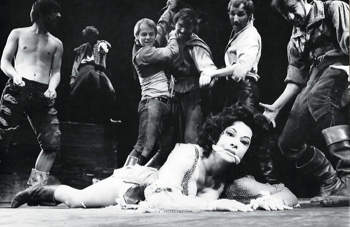 Ruth Silvestre Aldonza in Man of La Mancha in 1968