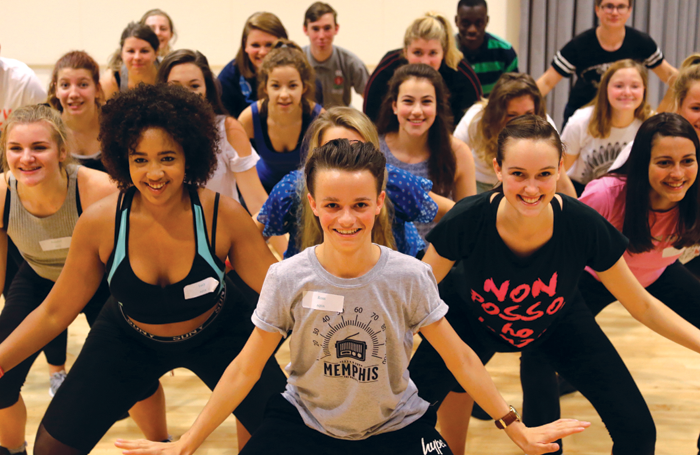 Students on the West End Stage summer school