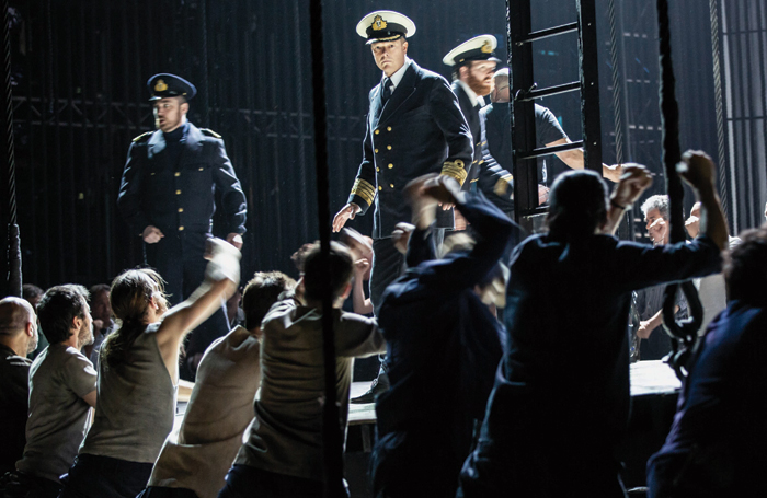 A scene from the all-male production of Benjamin Britten's Billy Budd. Photo: Yasuko Kageyama