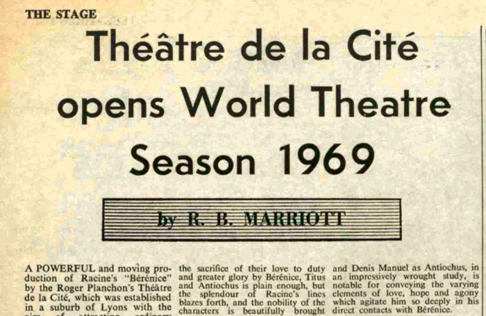 The Stage, April 17, 1969