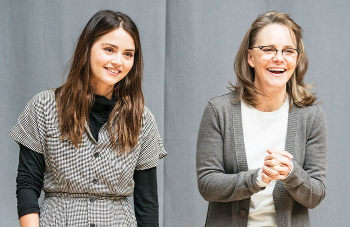 Sally Field and Jenna Coleman in rehearsals for All My Sons. Photo: Johan Persson