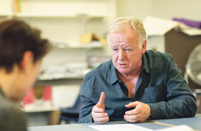 Les Dennis in rehearsals for Venice Preserved. Photo: Helen Maybanks