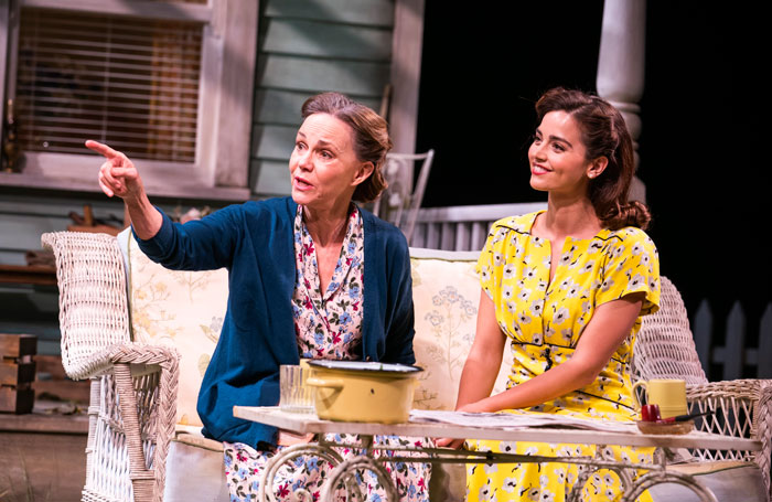Sally Field and Jenna Coleman in All My Sons at Old Vic, London. Photo: Tristram Kenton