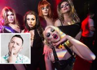 Gals Aloud and Christopher Clegg (inset)