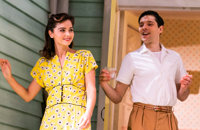 Jenna Coleman and Colin Morgan in All My Sons. Photo: Tristram Kenton