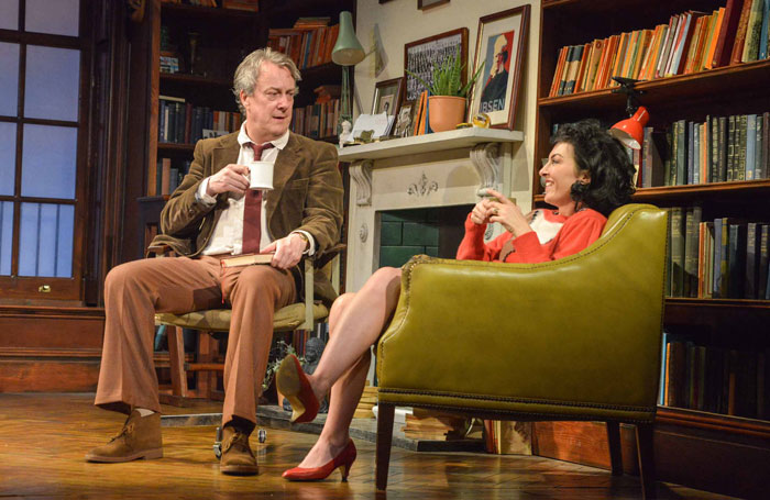 Stephen Tompkinson and Jessica Johnson in Educating Rita at Theatre by the Lake. Photo: Robert Day