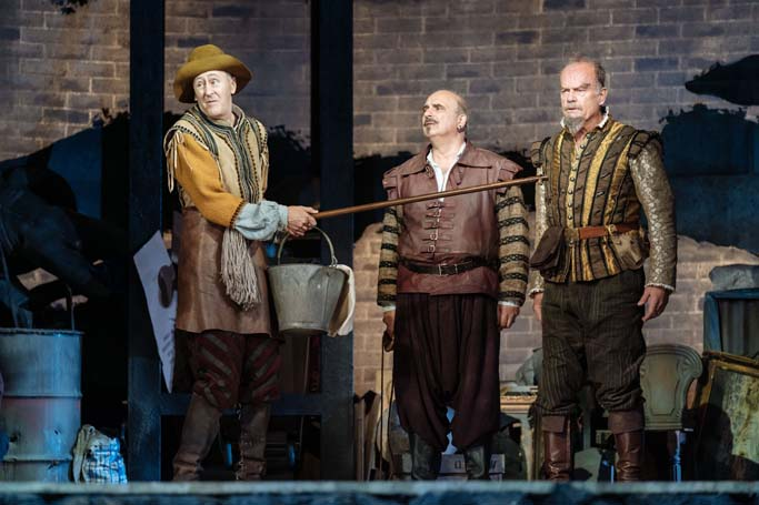 Nicholas Lyndhurst, Peter Polycarpou and Kelsey Grammer in Man of La Mancha