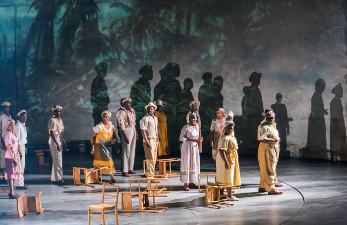 The cast of Small Island at the Olivier Theatre. Photo: Tristram Kenton