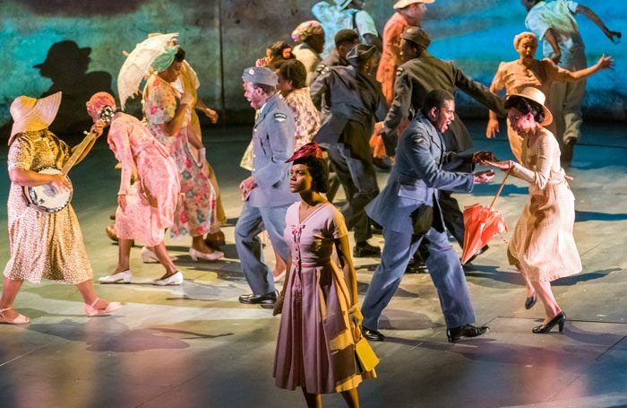 The cast of Small Island at the Olivier. Photo: Tristram Kenton