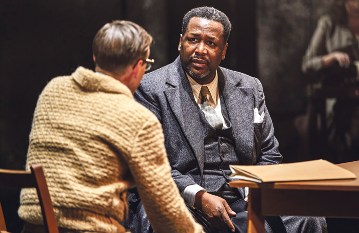 Wendell Pierce in Death of a Salesman with Ian Bonar