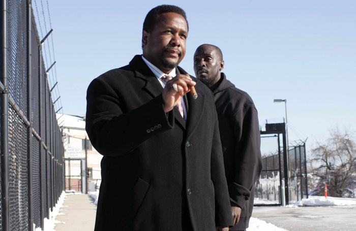 Wendell Pierce with Michael K Williams in The Wire, now showing on Sky Atlantic and On Demand. Photo: Paul Schiraldi