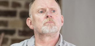Robert Glenister in rehearsals for Glengarry Glen Ross. Photo: Marc Brenner