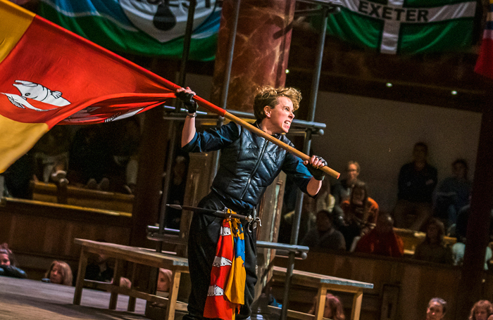 Michelle Terry in Henry IV Part 1, or Hotspur at Shakespeare's Globe. Photo: Tristram Kenton